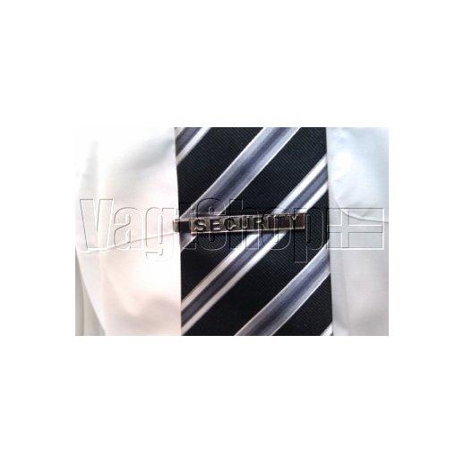 Security slipseklemme - sølvfarvet